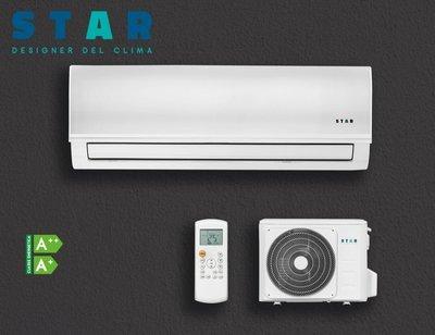 STAR EOS Condizionatore Monosplit 12000BTU + Pompa Di Calore Unità ESTERNA Inverter Climatizzatore per Ambienti di 35Mq