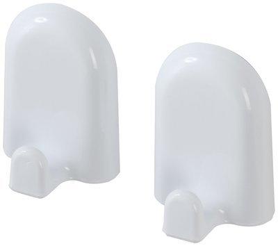 FERIDRAS GIOIA Set 2 appendini in abs bianco con doppio fissaggio tasselli o biadesivo