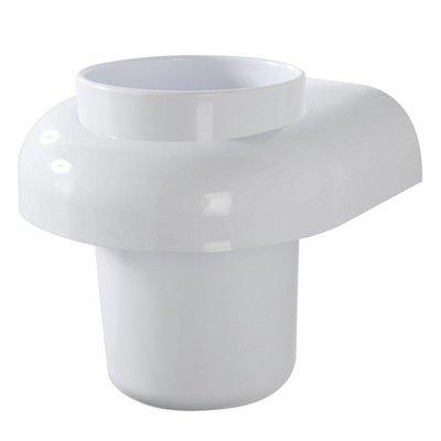 FERIDRAS GIOIA Portaspazzolino in abs bianco con doppio fissaggio tasselli o biadesivo