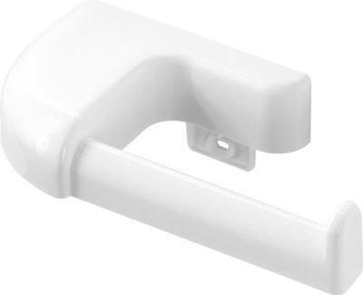 FERIDRAS GIOIA Portarotolo in abs bianco con doppio fissaggio tasselli o biadesivo