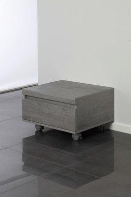 FERIDRAS CASSETTIERA su ruote 1 Cassetto color cemento