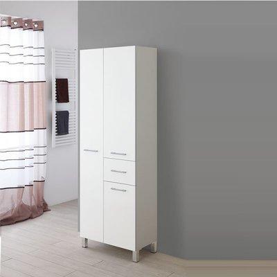 FERIDRAS Colonna Doppia Portasciugamani 60cm Bianco