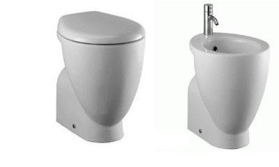 Ideal Standard Serie Small Vaso Scarico Pavimento c/Sedile + Bidet