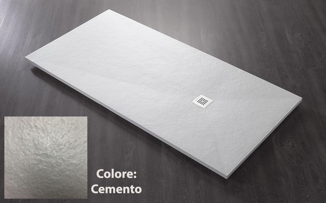 Piatto doccia ultraslim roccia mm cemento griglia copripiletta in