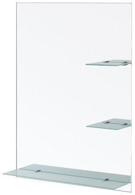 FERIDRAS Specchio Con Mensole Satinate 60X80cm