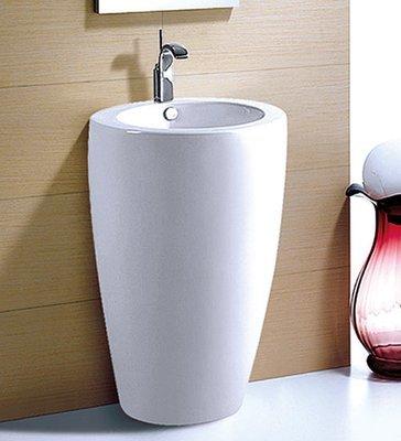 LAVABO DA TERRA / COLONNA ceramica bianca 510x520x870mm