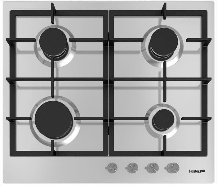FOSTER Piano cottura acciaio inox finitura spazzolato 4 fuochi 590x510mm