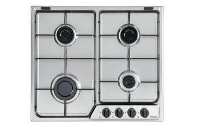De Longhi Piano cottura 4 bruciatori a gas Griglie in piattina smaltata acciaio inox 18/10 580x500mm