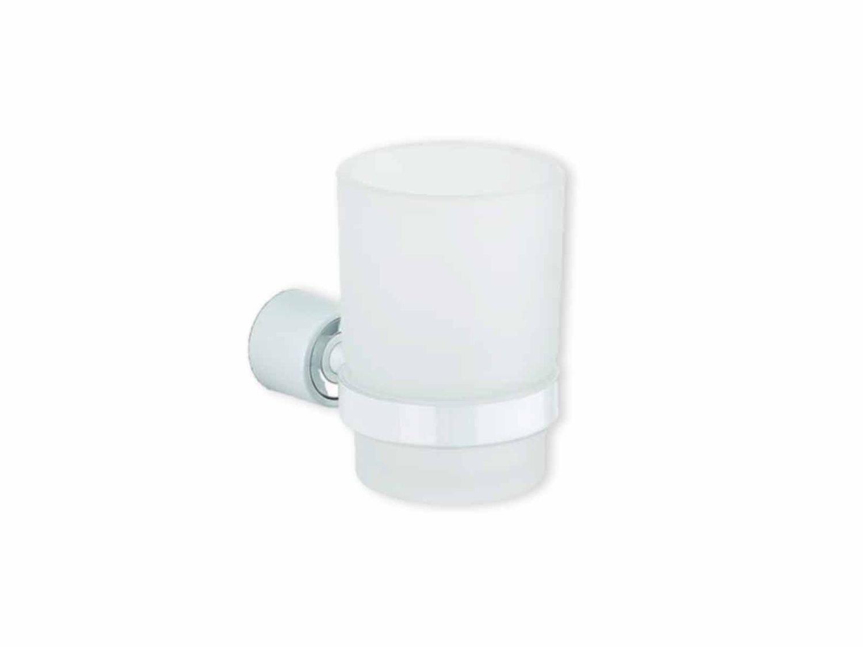 Metaform one bianca porta spazzolino accessori bagno muro acciaio