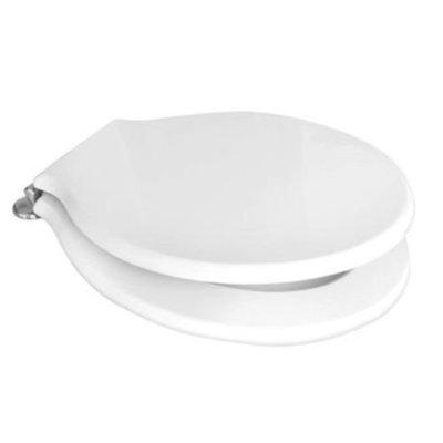 Sedile WC Copriwater per vaso POZZI GINORI MONTEBIANCO Legno Poliestere Tavoletta Compatibile Adattabile Bianco Cerniere Cromate