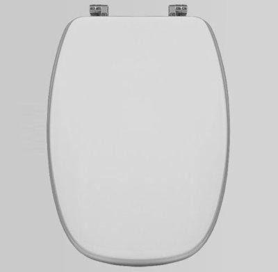 Sedile WC Copriwater per vaso POZZI GINORI ITALICA ITALO ASTRO Legno Poliestere Tavoletta Compatibile Adattabile Bianco Cerniere Cromate