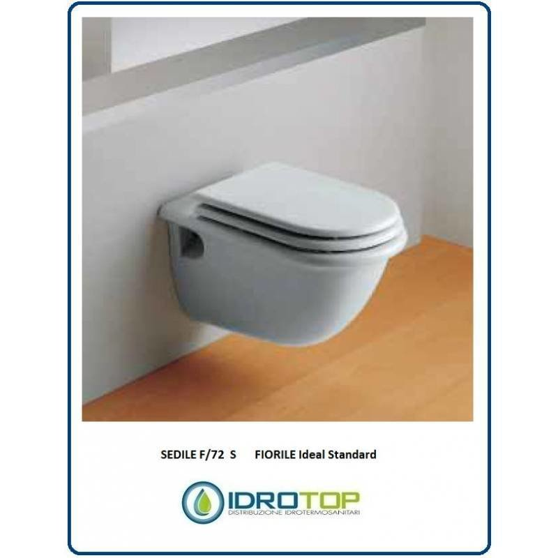 Sedile Fiorile Ideal Standard.Sedile Wc Copriwater Per Vaso Ideal Standard Fiorile Sospeso Legno