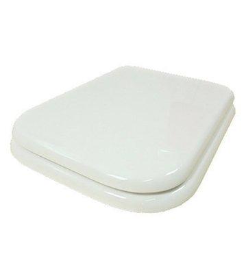 Sedile WC Copriwater per vaso RAK CERAMICS METROPOLITAN Legno Poliestere Tavoletta Compatibile Adattabile Bianco Cerniere Cromate