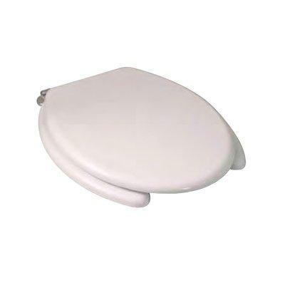 Sedile WC Copriwater per vaso DOLOMITE DISABILI Legno Poliestere Tavoletta Compatibile Adattabile Bianco Cerniere Cromate