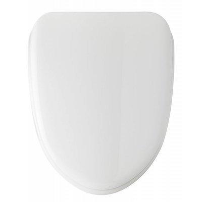 Sedile WC Compatibile CIELO LARA Termoindurente Copriwater Plastica Adattabile Bianco Cerniere Cromate