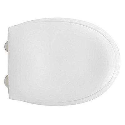 Sedile WC Compatibile RAK CERAMICS KARLA Termoindurente Copriwater Plastica Adattabile Bianco Cerniere Cromate