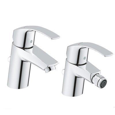 Set miscelatori lavabo e bidet Grohe Eurosmart New taglia S