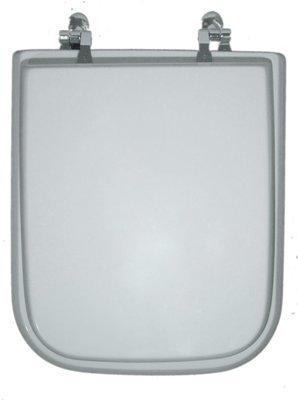 Sedile WC Copriwater per vaso DOLOMITE EPOCA Legno Poliestere Tavoletta Compatibile Adattabile Bianco Cerniere Cromate