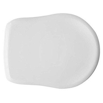 Sedile WC Copriwater per vaso UNO CERAMICA (AXA) CONTEA Legno Poliestere Tavoletta Compatibile Adattabile Bianco Cerniere Cromate