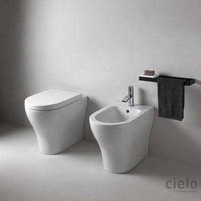 ENJOY CIELO VASO+BIDET FILO MURO CON SEDILE