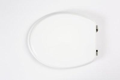Sedile copri WC coprivaso Compatibile ARCHIADE (Ex Sbordoni) Serie FULVIA in Poliestere Copriwater anima in Legno Bianco Cerniere Cromate BSPRESVR00