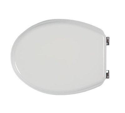 Sedile copri WC coprivaso Compatibile ARCHIADE (ex SBORDONI) Serie FLAVIA in Poliestere Copriwater anima in Legno Bianco Cerniere Cromate BSPRESIS06