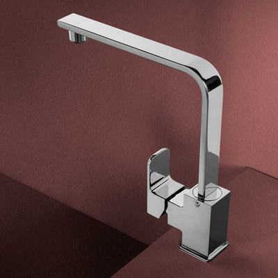 Miscelatore monocomando per lavello serie King Bocca alta girevole e flessibile di connessione