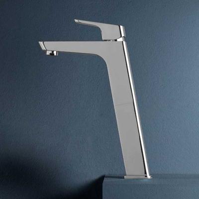 Miscelatore monocomando per lavabo alto con scarico 1''1/4 serie Blow in ottone cromato