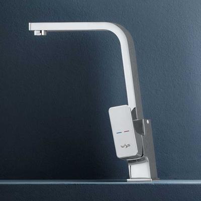 Miscelatore monocomando Blow per lavello con bocca alta girevole e flex di connessione 35 cm