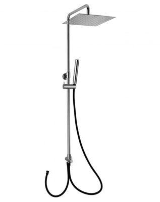 JACUZZI Colonna doccia telescopica con deviatore e flessibile cm 100 soffione da 25