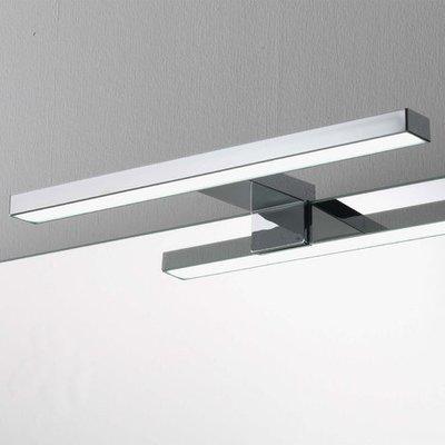 Lampada a led per specchio da bagno cm 30 cromata per applicazione su vetro
