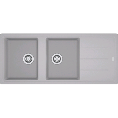 Franke BFG 621 BOSTON Lavello incasso 116 x 50 alluminio - gocciolatoio reversibile