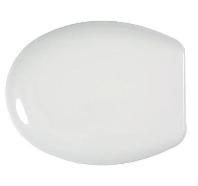 Sedile copri WC coprivaso Compatibile AXA Serie MIRTO Termoindurente Copriwater Plastica Adattabile Bianco Cerniere Cromate BSTER5