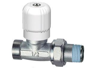 1250 1/2 -Valvola per radiatori diritta 1/2 con attacco rame