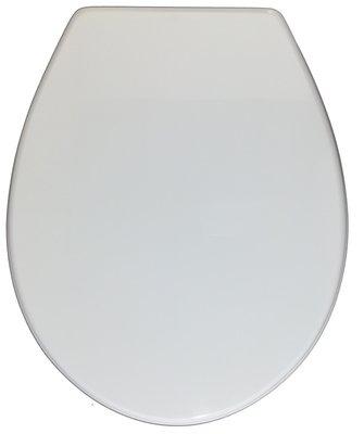 Sedile copri WC coprivaso Compatibile ARCHIADE (ex SBORDONI) Serie KERAFIN Copriwater Plastica Adattabile Bianco Cerniere Cromate BSTER8