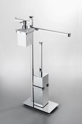 House Design Doria Piantana wc-bidet con porta dispenser Finitura Ottone Cromato