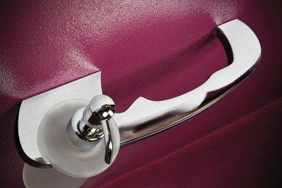 House Design Traccia Porta Salvietta con Dispenser Finitura Ottone Cromato