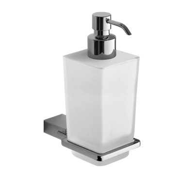 GEDY Kansas Dispenser con erogatore in CROMALL® Cromato Lucido