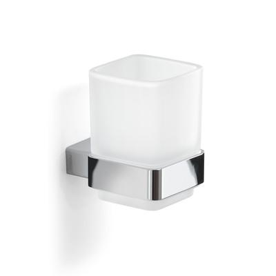 GEDY LOUNGE Portaspazzolini Alluminio Cromall® Vetro Cromato Lucido