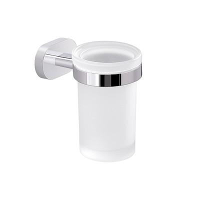 GEDY serie BERNINA Portaspazzolini in Cromall®/vetro/resine termoplastiche