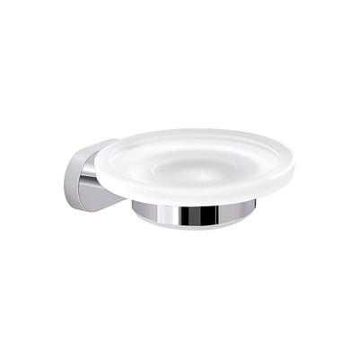 GEDY serie BERNINA Porta sapone in Cromall®/vetro/resine termoplastiche