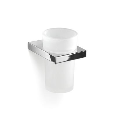 GEDY serie LANZAROTE Porta Spazzolini in Cromall®/vetro