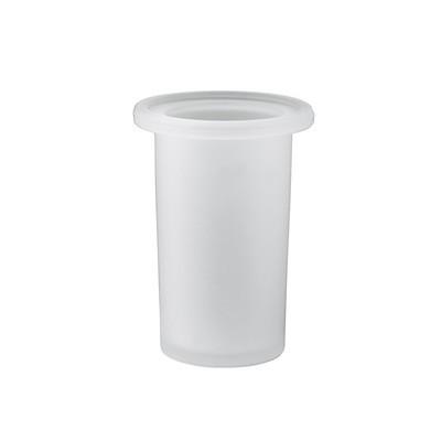 GEDY serie Azzorre Bicchiere Per Portasalviette Attrezzabile in Vetro Satinato