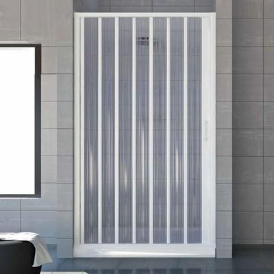 Elan 8 Box doccia a soffietto solo parete nicchia da 140 a 150 cm riducibile pannello acrilico altezza 185 cm soffietto REVERSIBILE