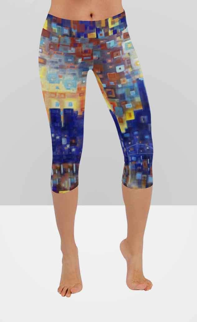 57cd6d9241c Abstract Capri Leggings -