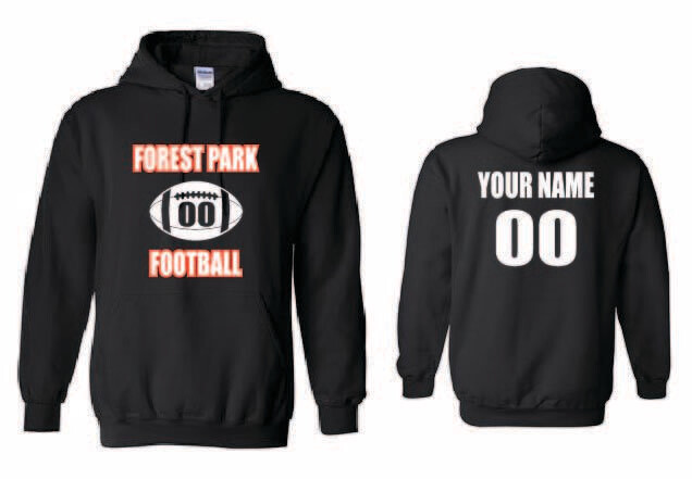 Forest Park Football Hoodie - Custom Name and Number