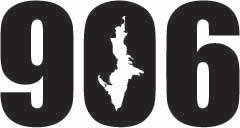 Upper Peninsula 906 Sticker