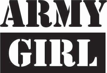 Army Girl Sticker