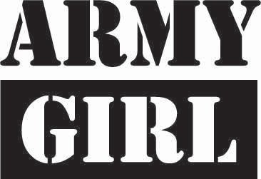 Army Girl Sticker