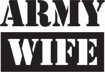 Army Wife Sticker